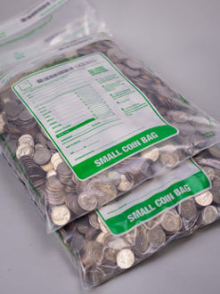 "Cashier Depot Coin Bags 11"" x 17"" Large, Clear, 50 Bags"