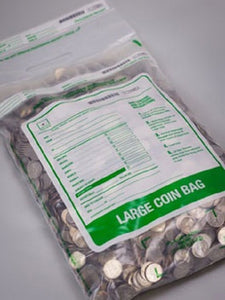 "Cashier Depot Coin Bags 12"" x 22"" Large, Clear, 50 Bags"
