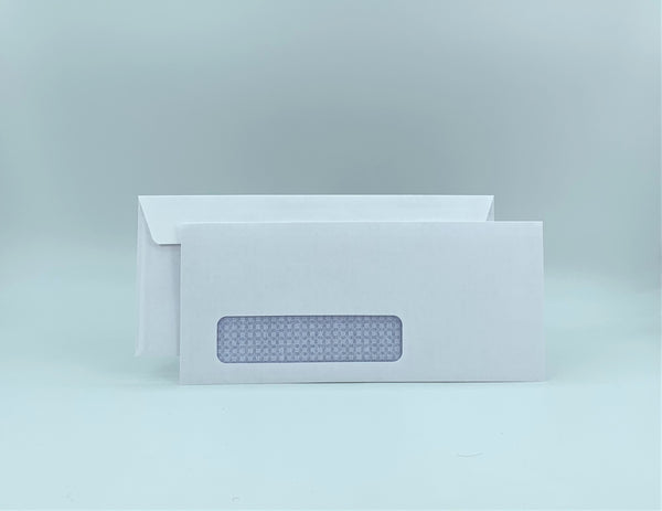 "No. 9 Business Envelope, Left Window, 3 7/8"" X 8 7/8"", Security Tinted, 24lb, White, 500/Box"