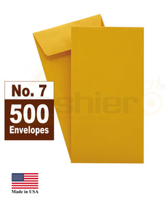 "Cashier Depot #7 Coin Envelopes, 3-1/2"" X 6-1/2"", Kraft, 24lb., Gum Flap, 500/Box"