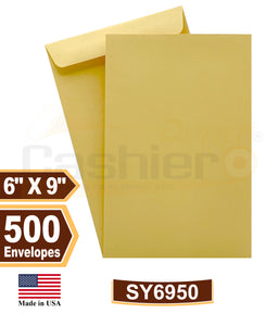 "Cashier Depot 6"" x 9"" Catalog (Open End) Envelopes, Premium 24lb. Kraft, Gum Flap, 500/Box"
