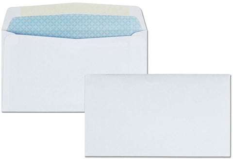 "Cashier Depot No. 6 3/4 Business Envelope, 3 5/8"" X 6 1/2"" , Security Tinted, 24lb, White, 500/Box"