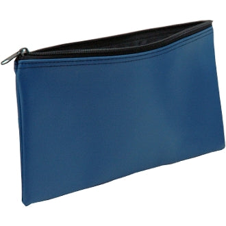 "Bank Deposit / Zipper Coin Vinyl Bag, 11 X 6"" Blue"