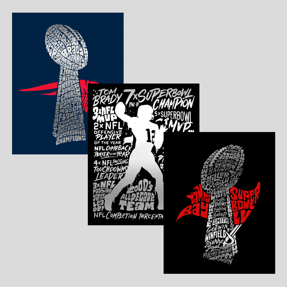 The G.O.A.T Collection - Bundle of 3 Silver Foil Posters