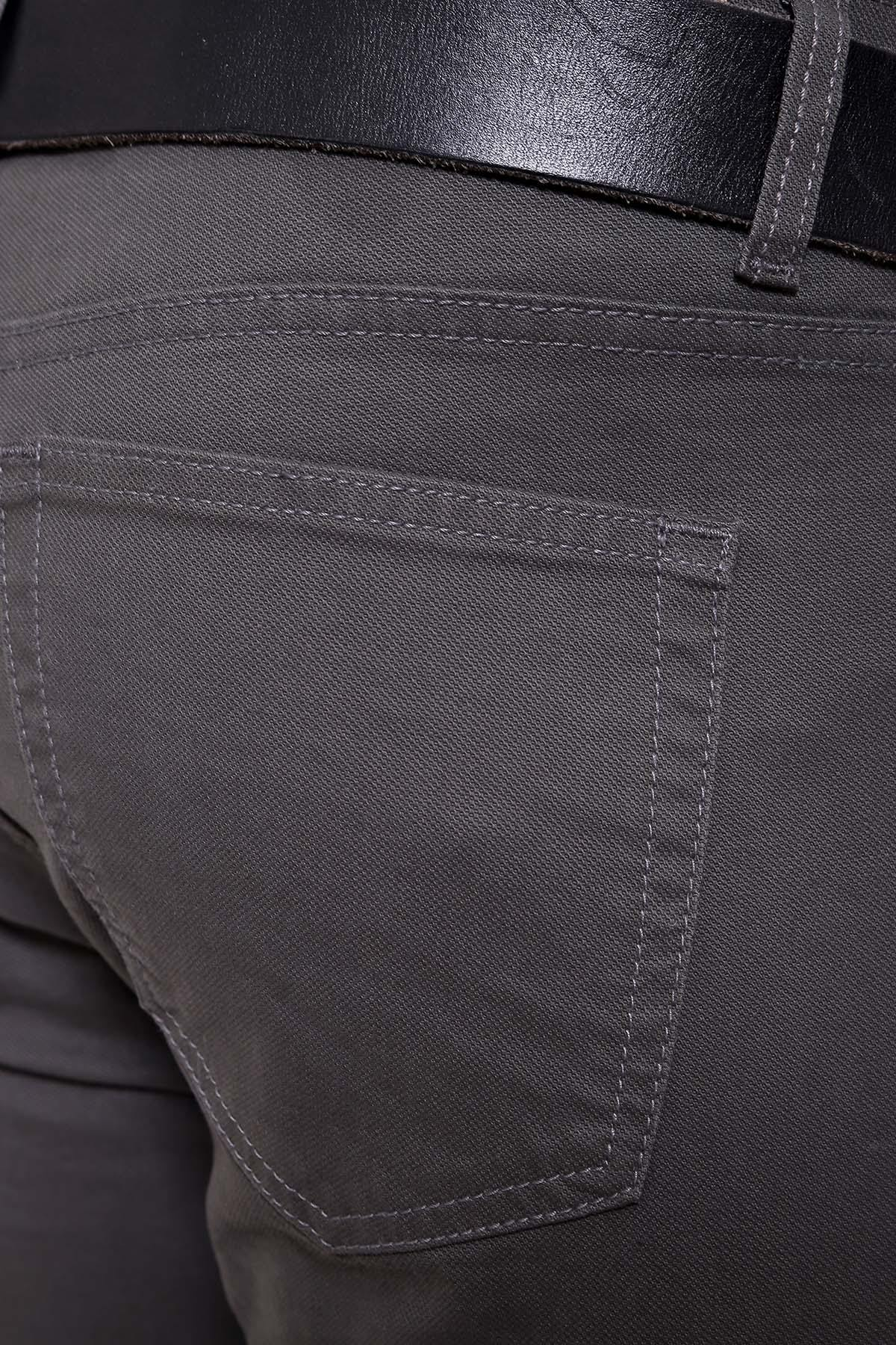 C PANT 5 POCKET SLIM FIT OLIVE - Charcoal - CASUAL PANTS -