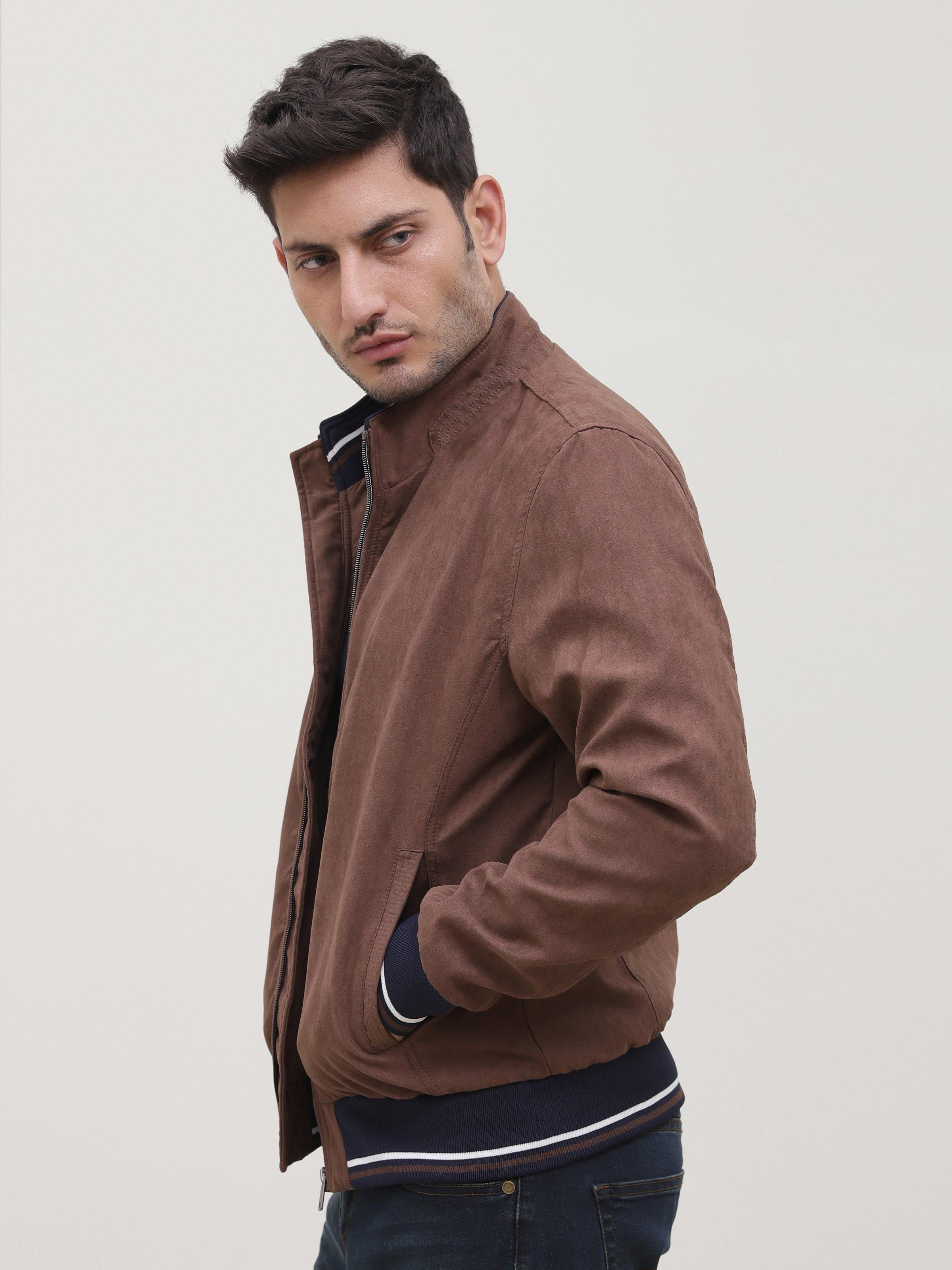 SUEDE JACKET BROWN - Charcoal Clothing - N-JACKETS - New