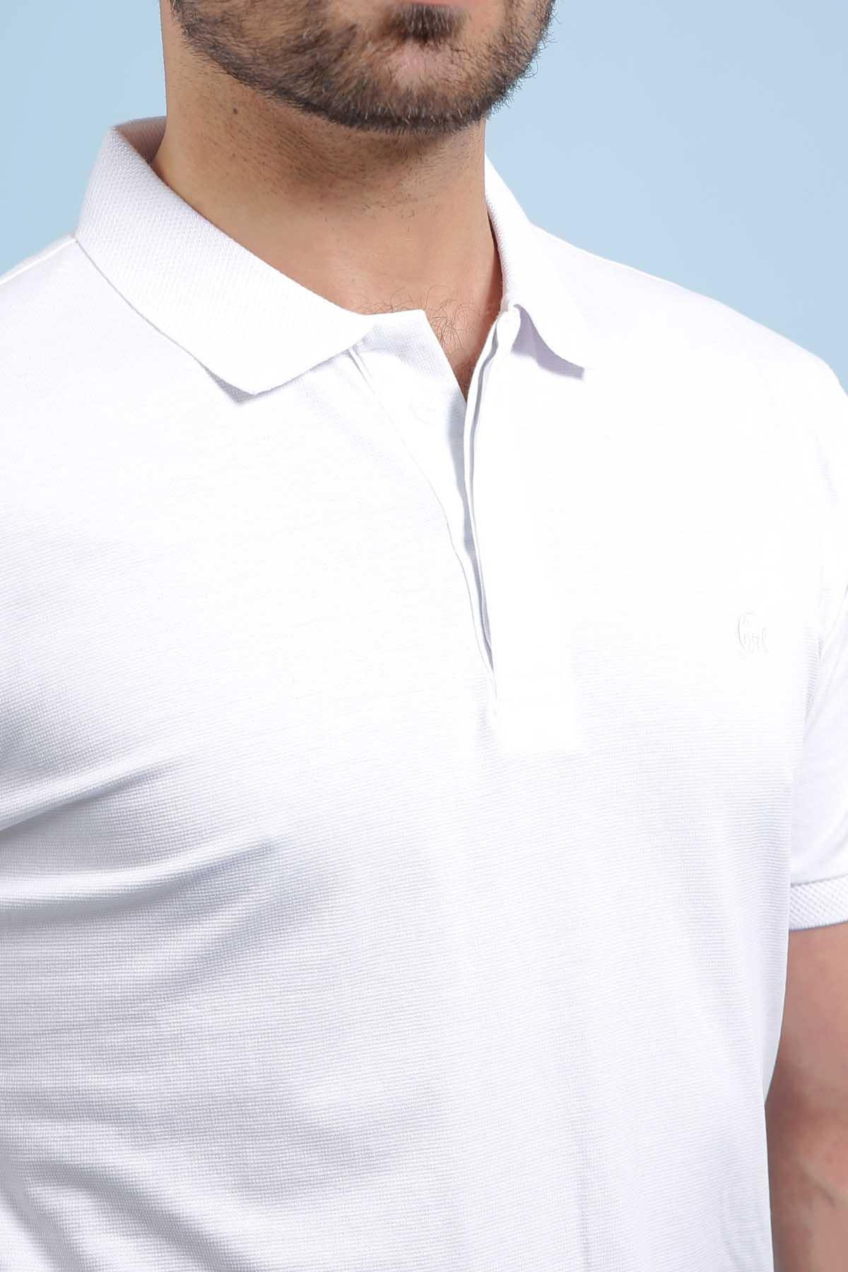 POLO SHIRT WHITE - Charcoal Clothing