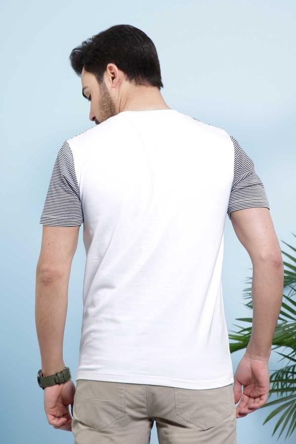T SHIRT ROUND NECK WHITE - Charcoal - 2000-2499 - Large -