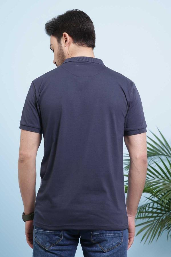 T SHIRT POLO NAVY BLUE - Charcoal - 2499-2999 - Large -