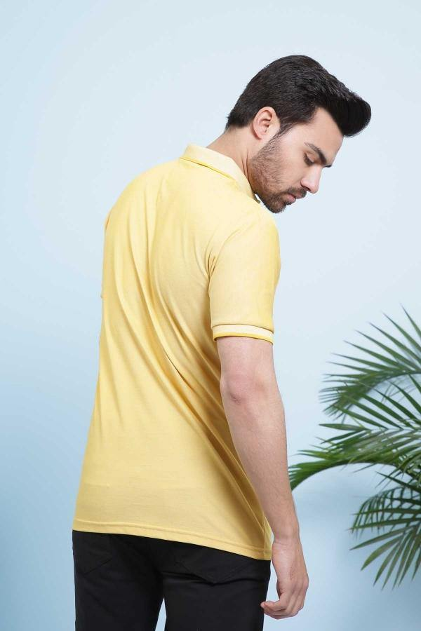 T SHIRT POLO YELLOW - Charcoal - 2999-3499 - Large - Medium