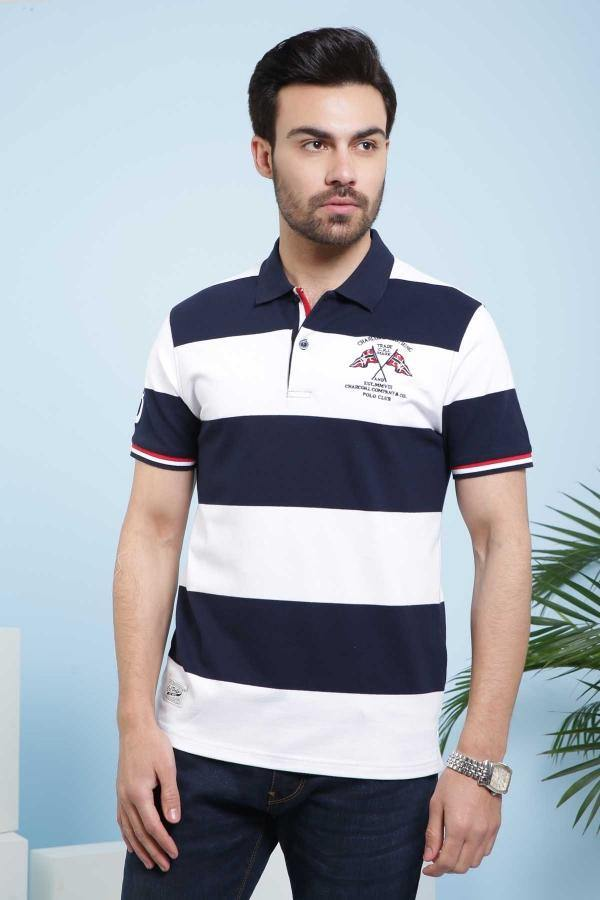 T SHIRT POLO NAVY WHITE - Charcoal - 2999-3499 - Large -