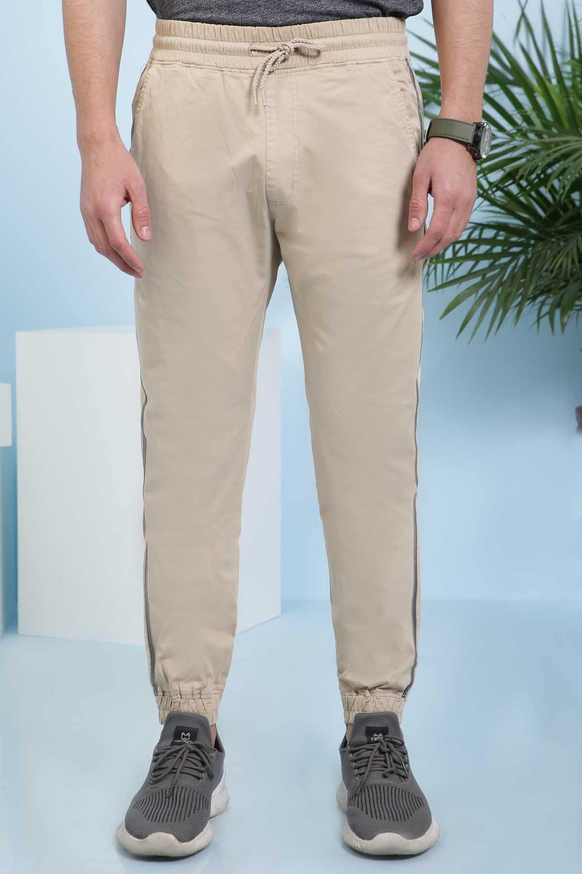 CASUAL TROUSER SLIM FIT LIGHT KHAKI - Charcoal - N-CASUAL -