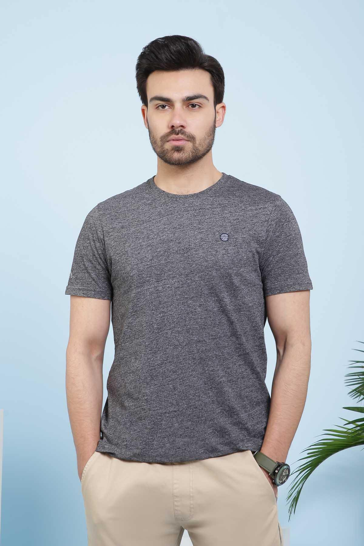 T SHIRT CREW NECK CHARCOAL - Charcoal - POLO & TEES - Shirts