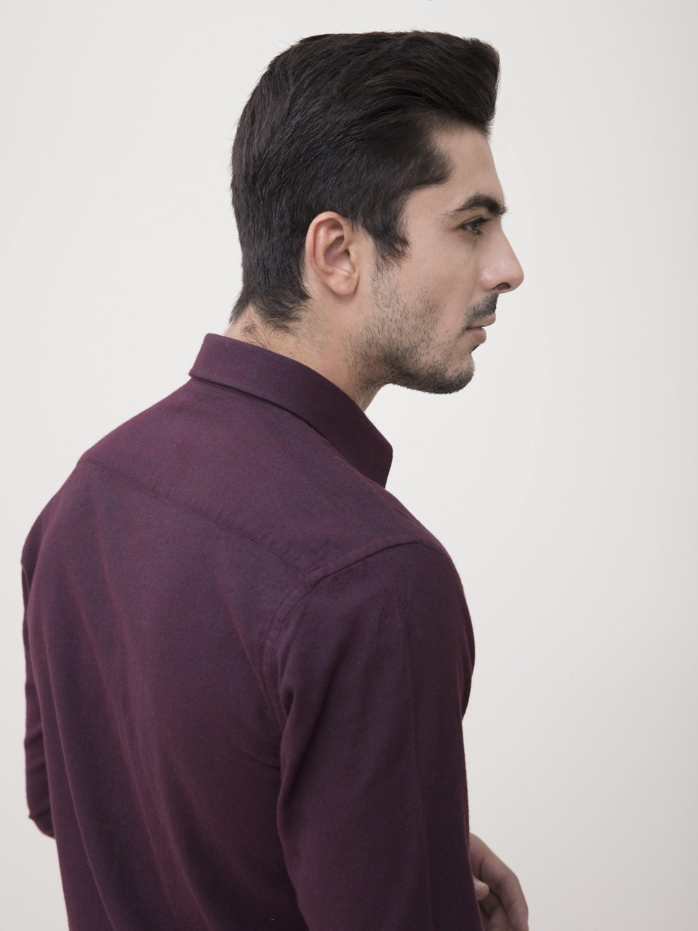 SMART SHIRT MAROON - Charcoal Clothing - N-SMART SHIRTS -