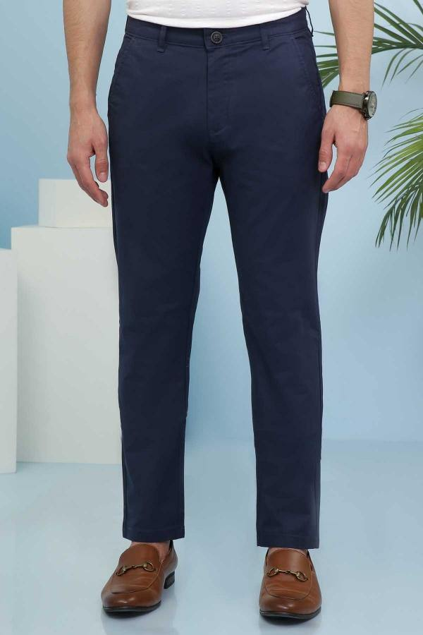 CASUAL PANT CROSS POCKET SLIM FIT NAVY - Charcoal -