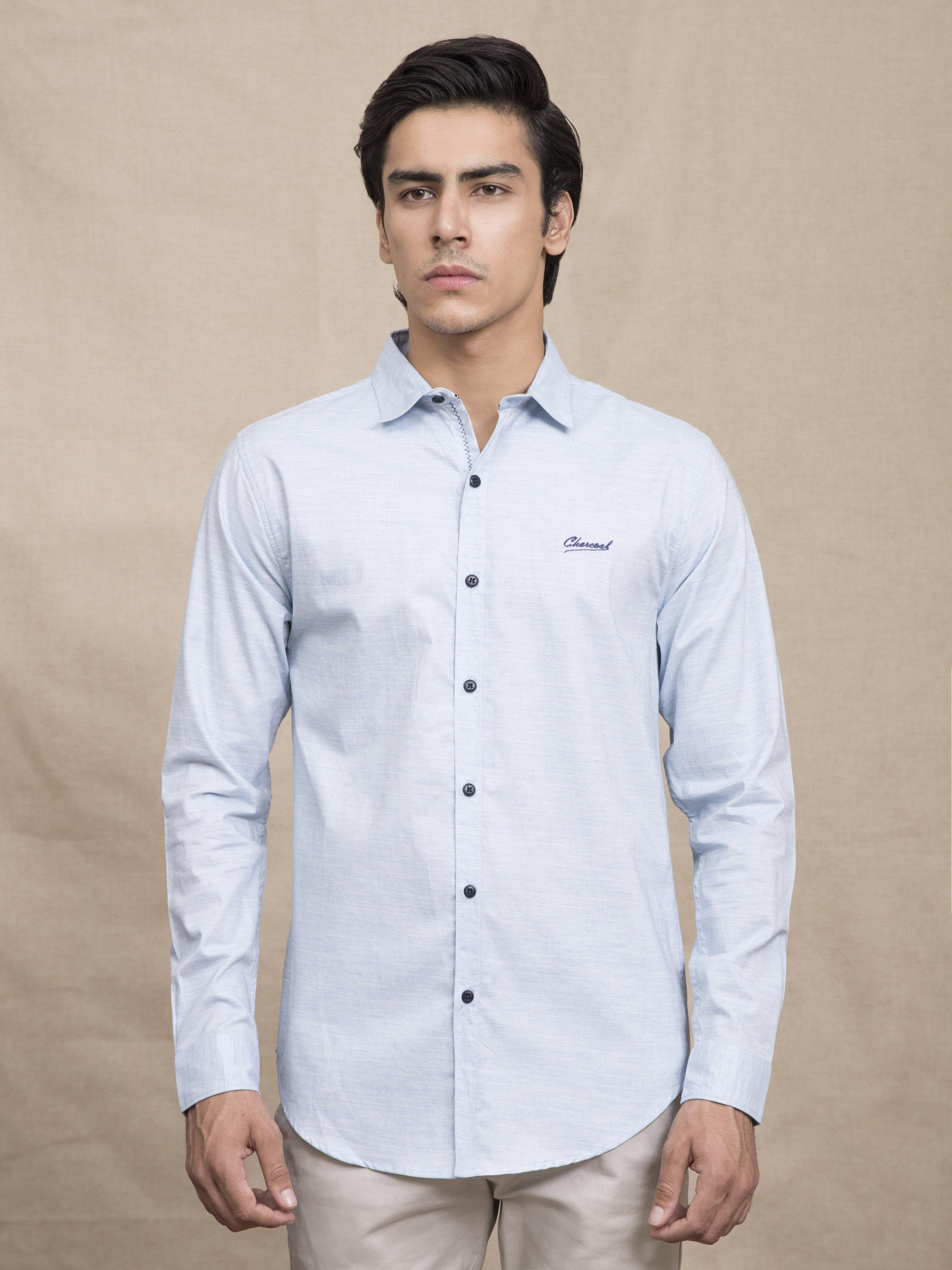 CASUAL SHIRT SKY BLUE - Charcoal Clothing