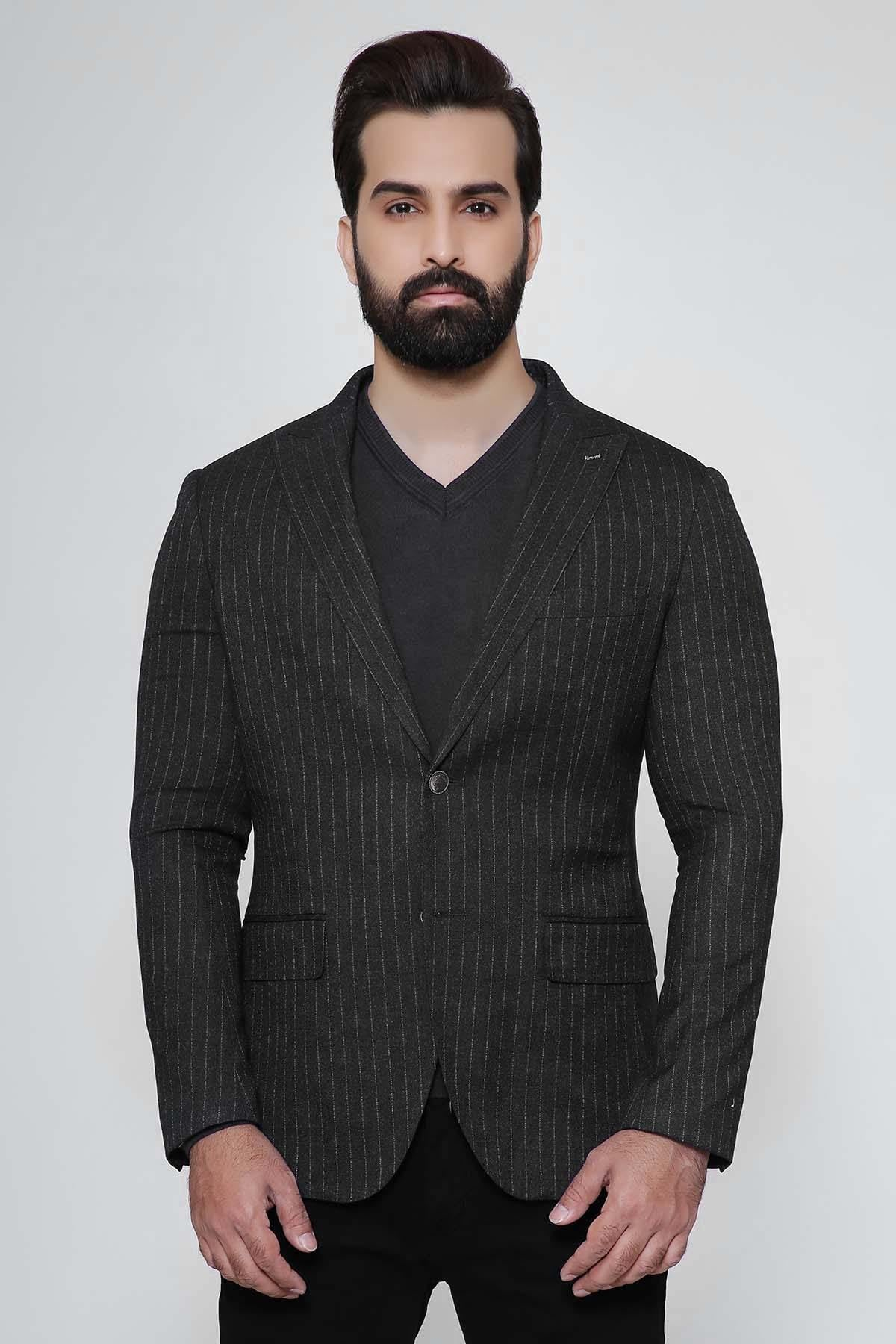 CASUAL COAT SLIM FIT CHARCOAL - Charcoal - Suiting