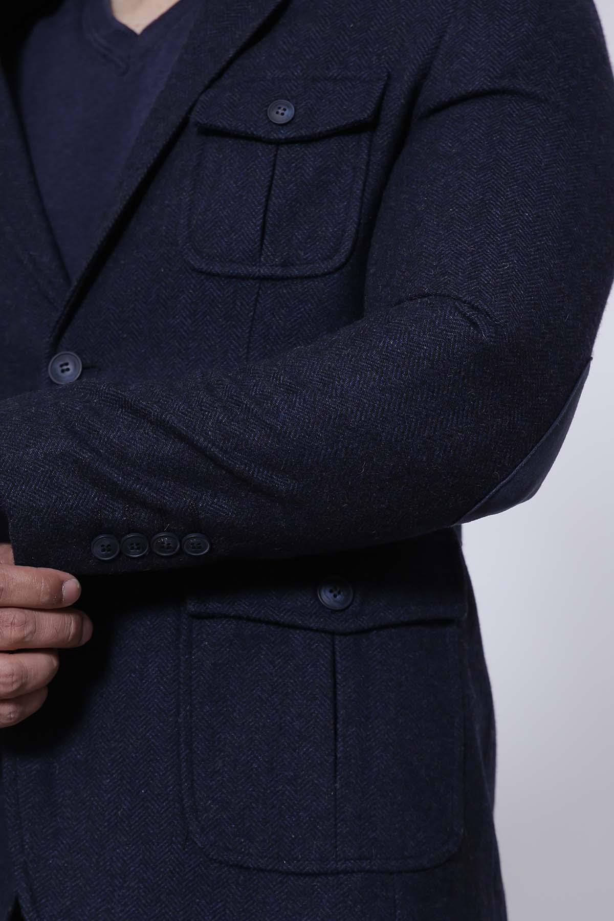 CASUAL COAT SLIM FIT NAVY - Charcoal - Suiting - WINTER SALE