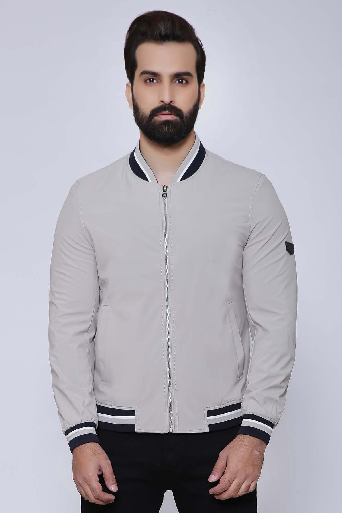 JACKET FULL SLEEVE LIGHT BEIGE - Charcoal - JACKETS