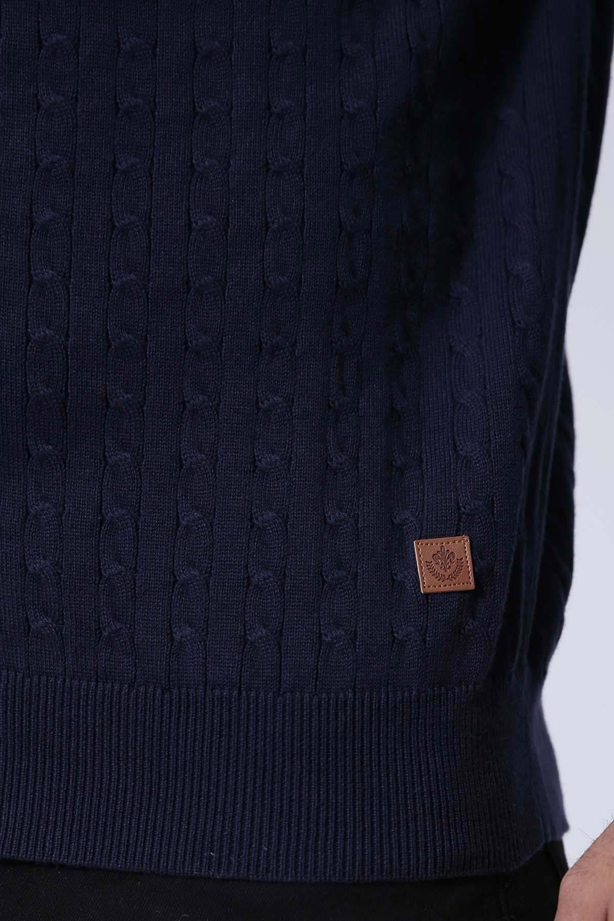 SWEATER ZIPPER FULL SLEEVE NAVY - Charcoal