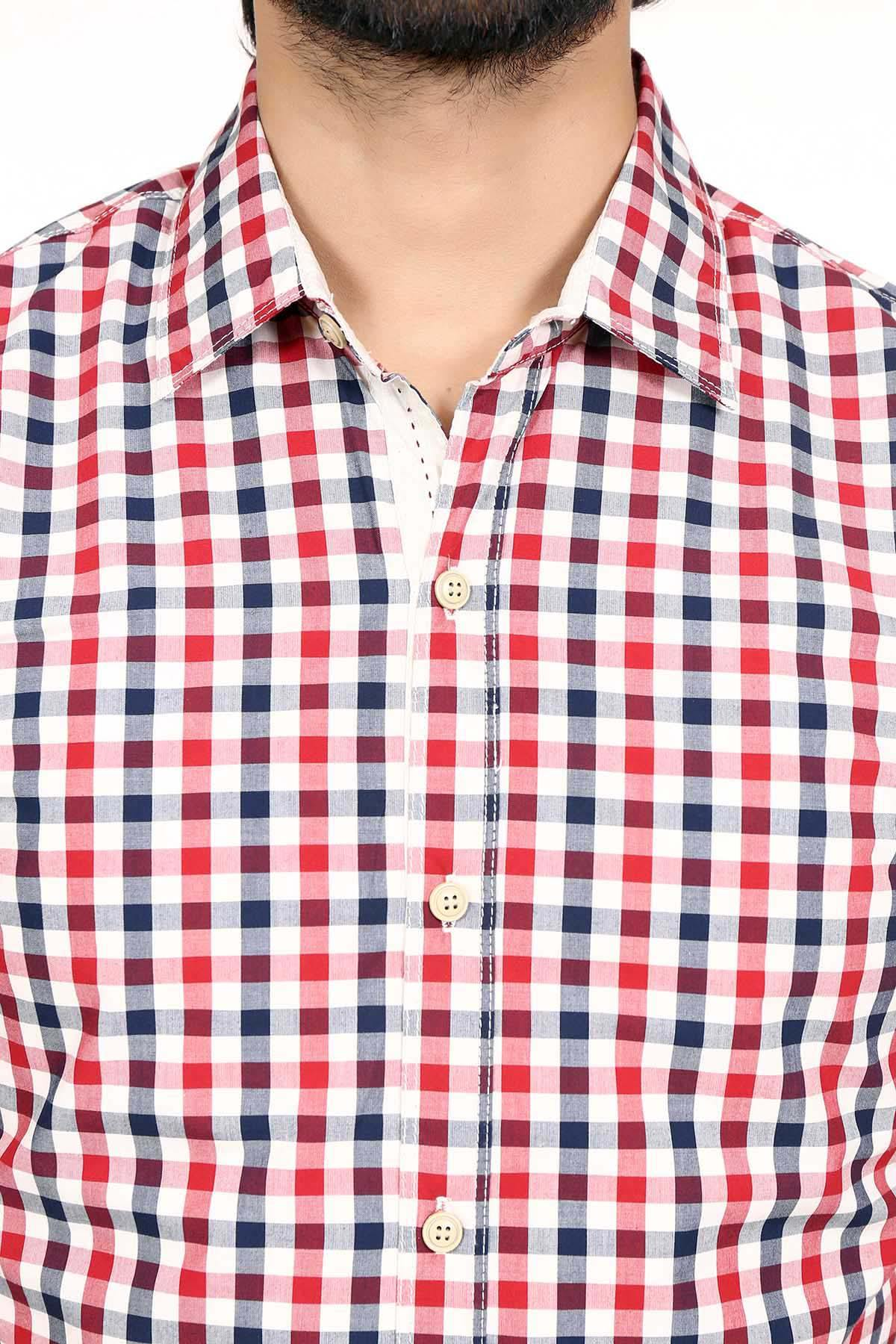Casual Shirt Red Navy