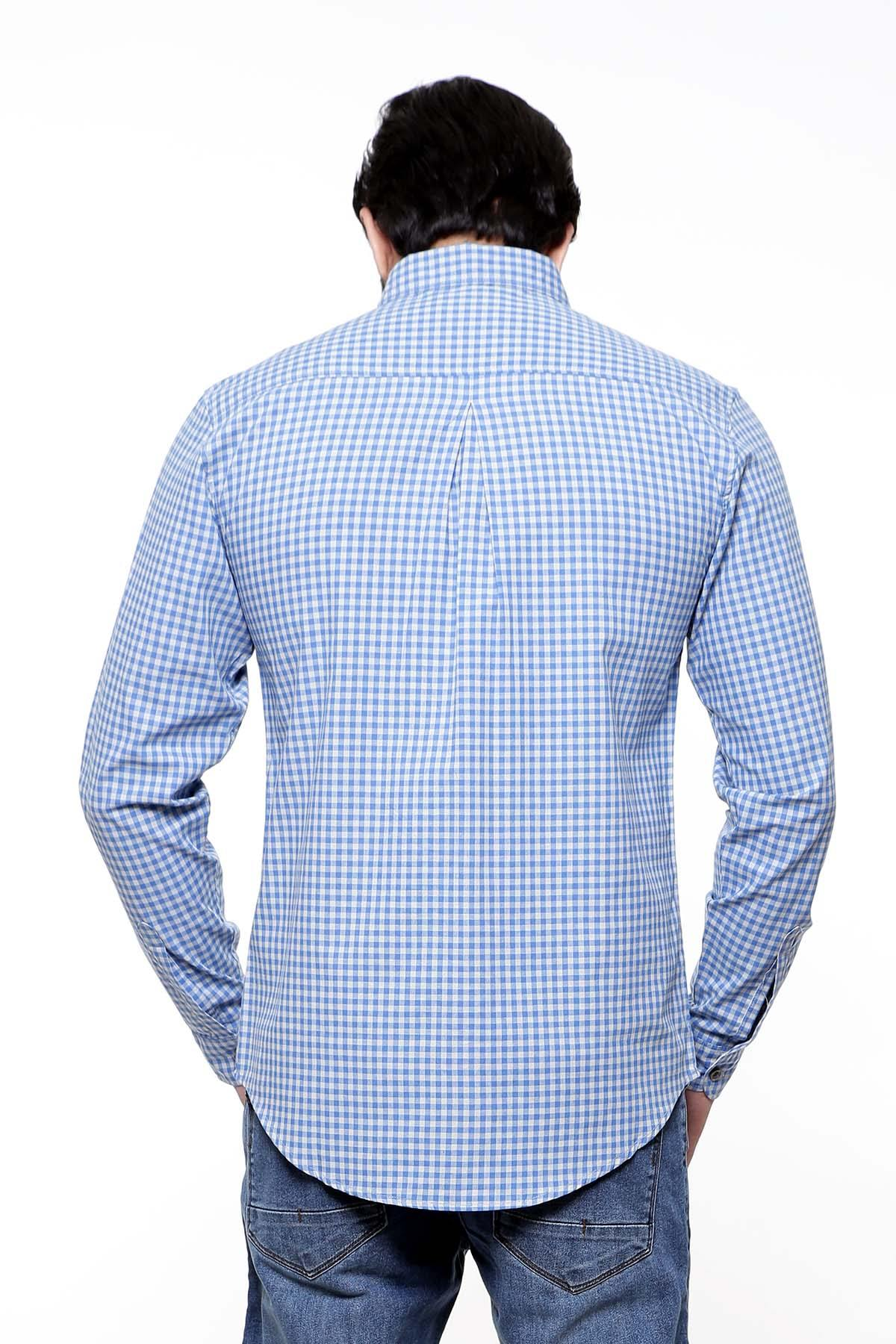 CASUAL SHIRT FULL SLEEVE BLUE GREY