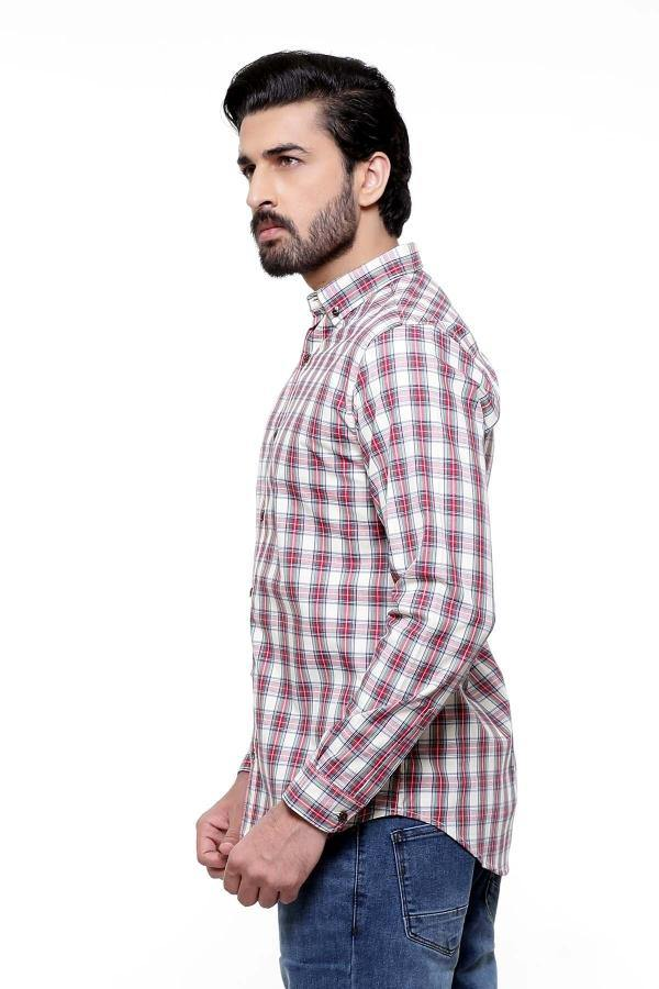CASUAL SHIRT FULL SLEEVE MULTI SLIM FIT - Charcoal -