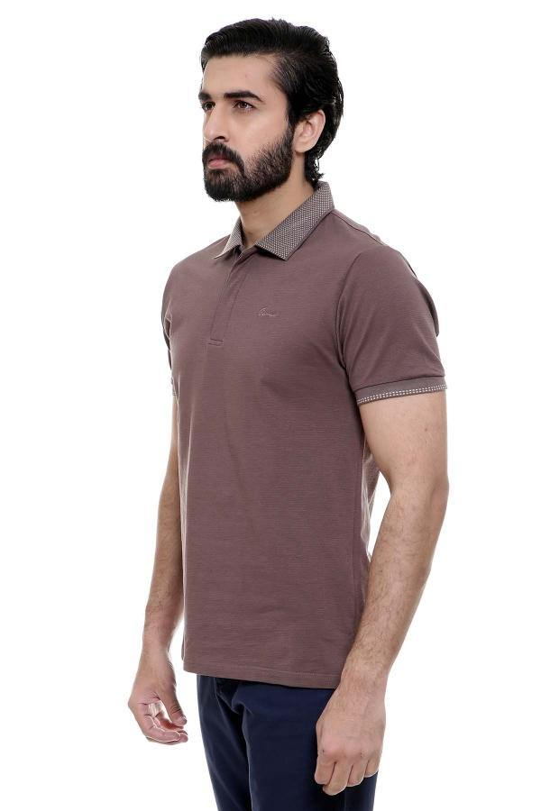 T SHIRT POLO BROWN - Charcoal - 2499-2999 - FAIR PRICE SHOP