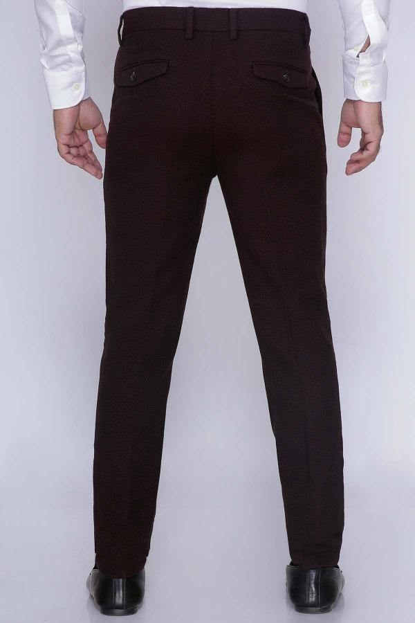 CASUAL PANT CROSS POCKET ITALIAN FIT BROWN - Charcoal - 30 -