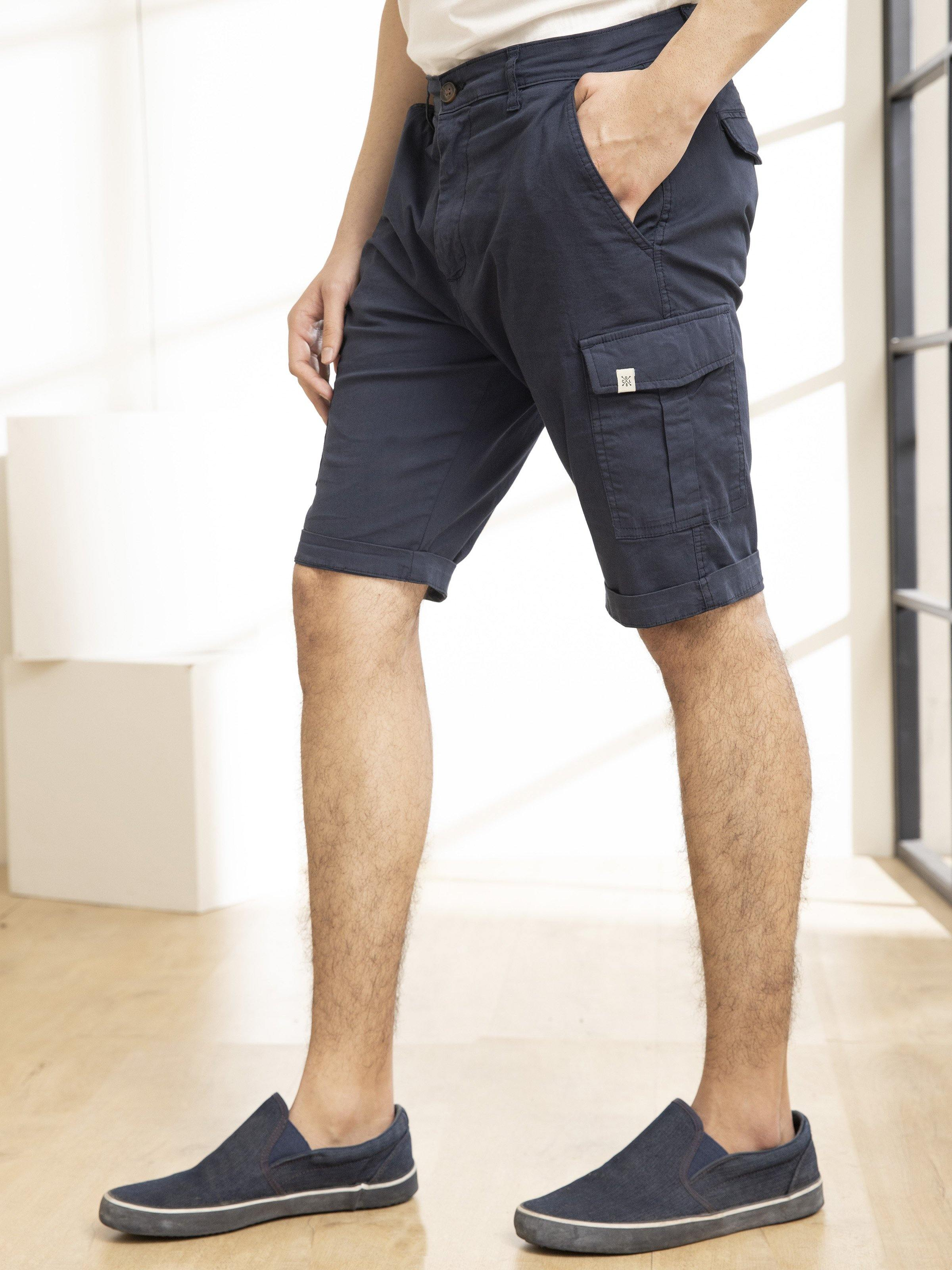 CARGO SHORTS NAVY - Charcoal Clothing