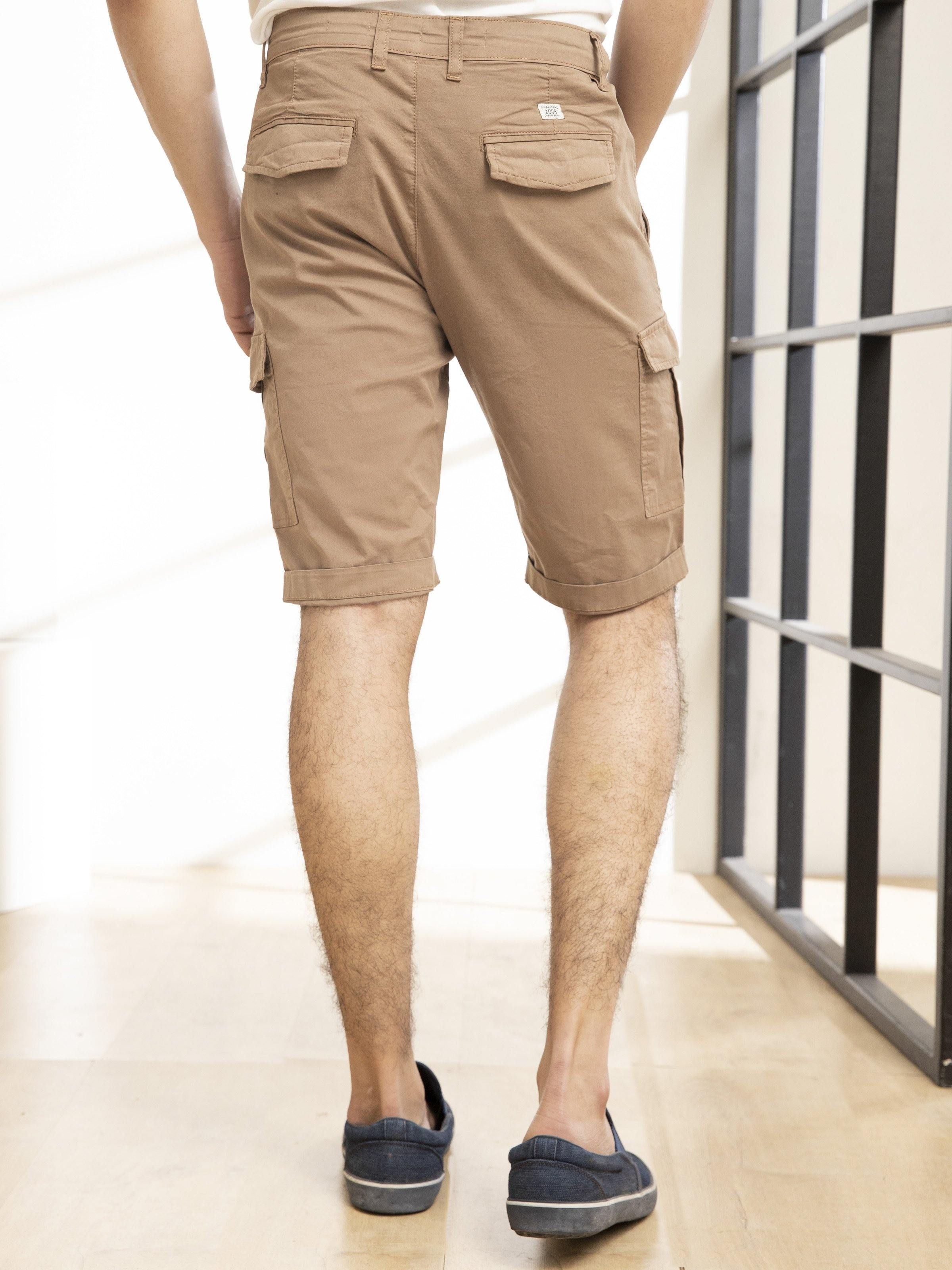 CARGO SHORTS KHAKI - Charcoal Clothing