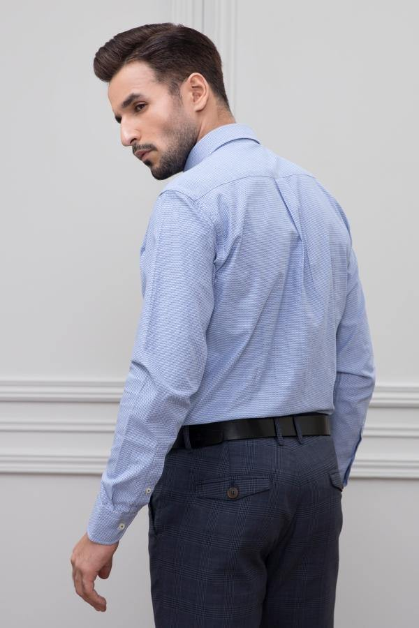 SMART SHIRT FULL SLEEVE BLUE - Charcoal - Rs.2000-Rs.2999 -