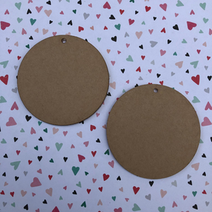 2.5 inch acrylic circle with hole