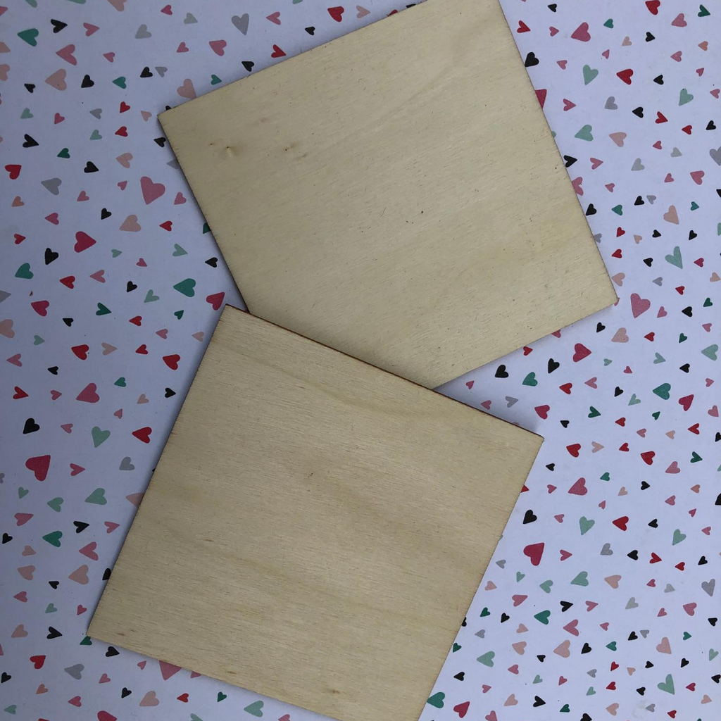4 inch wood square tile