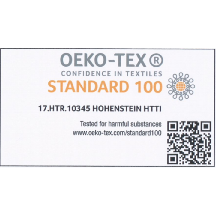 OEKO-TEX Confidence in Textile - certified as Class I - free of harmful substances and suitable for infants