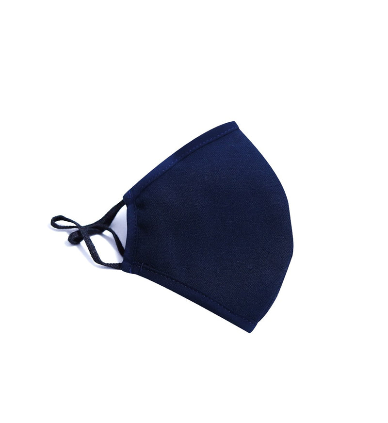 Navy Blue - Navy Theme Adults Mask - Antibacterial Antimicrobial Fabric (Silver Ion)