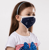 Navy Blue and White Navy Theme Kids Protective Reusable Mask - Antibacterial Antimicrobial Fabric (Silver Ion)