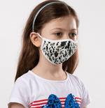White and Green Camouflage Kids Protective Reusable Mask - Antibacterial Antimicrobial Fabric (Silver Ion)