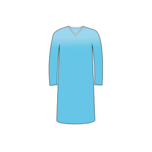 Long Sleeve Patient Gown (AAMI Level 2)
