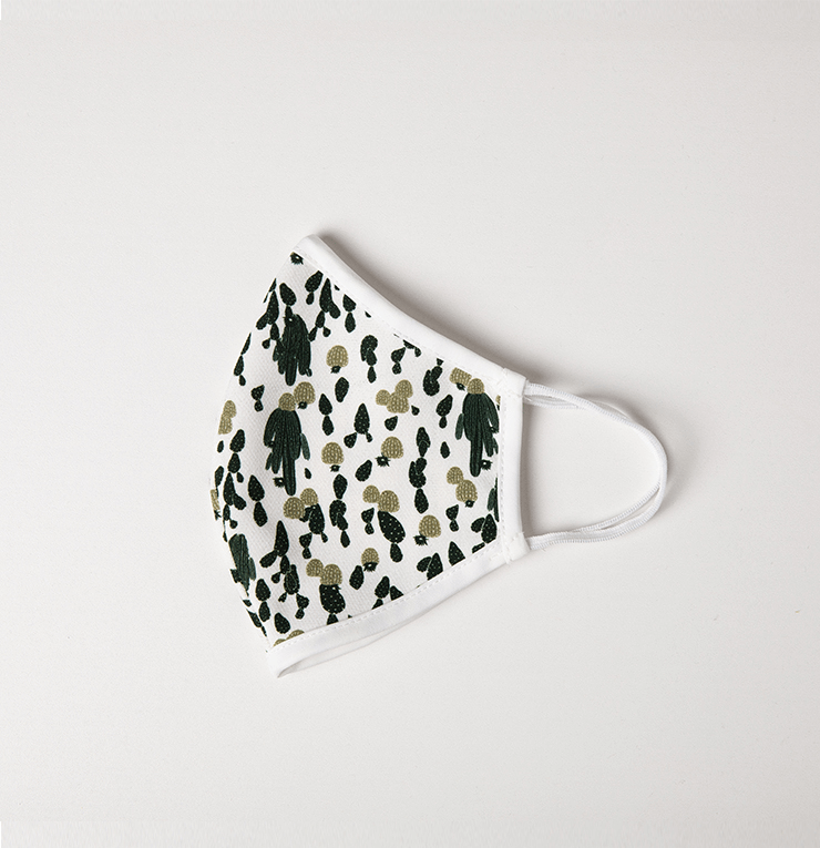 White and Green Camouflage Adult Reusable Protective Mask - Antibacterial Antimicrobial Fabric (Silver Ion)
