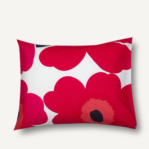 Unikko pillow case red 50 x 70 / 75 cm