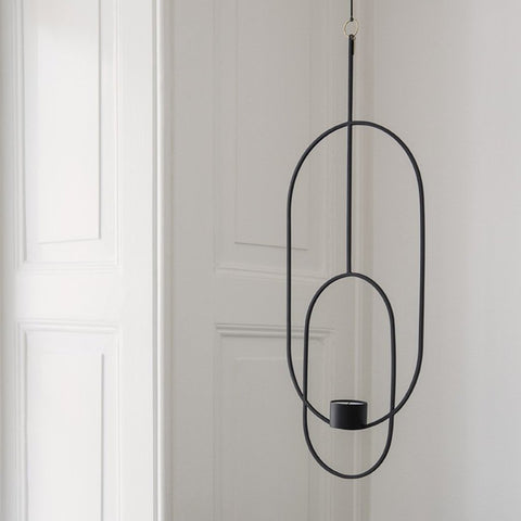 Hanging Tealight Deco - Ovale - Nero
