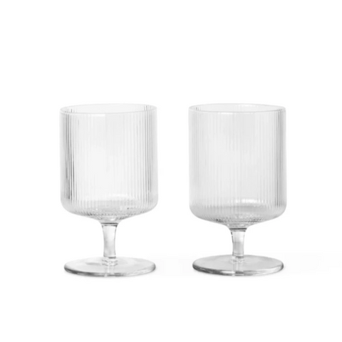 Ripple Wine Glasses 2pc clear