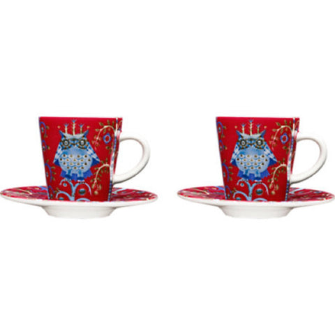 Taika espresso cup & saucer, set of 2