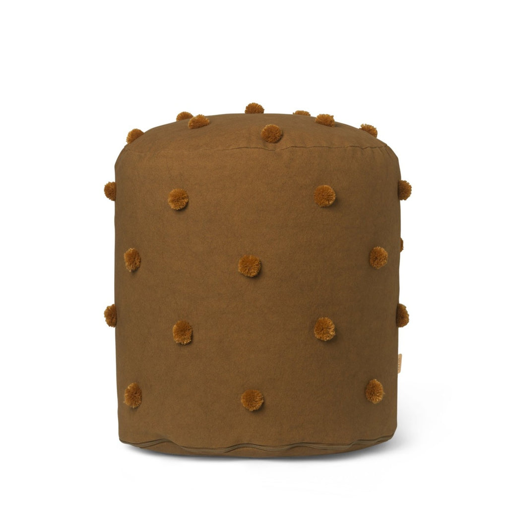 Ferm Living Dot Tufted Pouf Sugar Kelp/Mustard