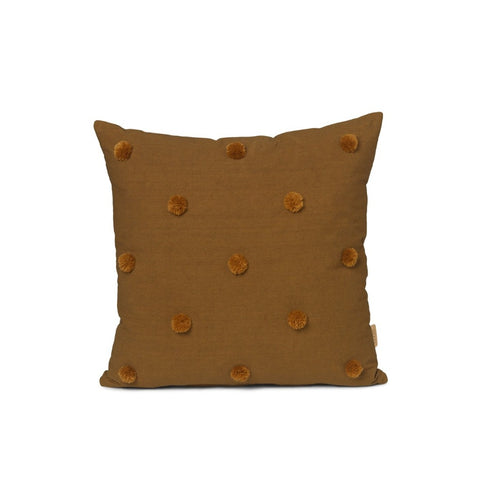 Dot Tufted Cushion Sugar Kelp/Mustard
