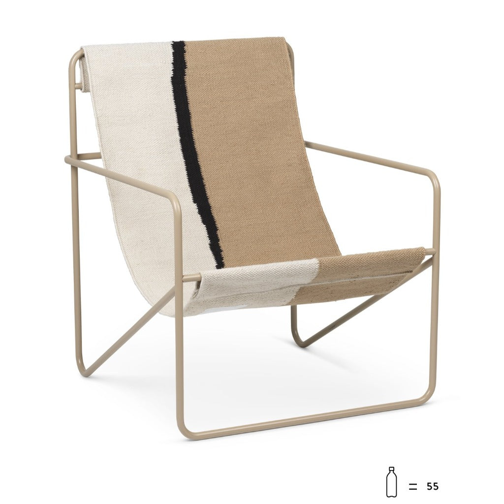 Ferm Living Desert Lounge Chair Black/Soil