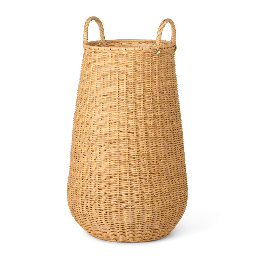 Ferm Living Braided Laundry Basket, natural