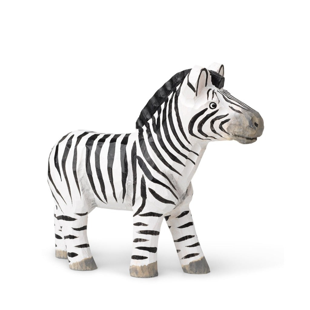 Ferm Living Animal Hand-Carved Toy Zebra