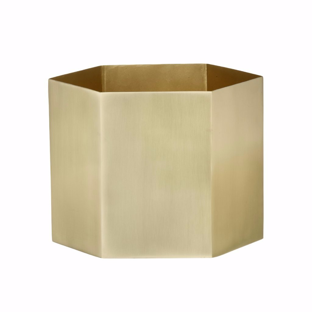 Large Hexagon Pot brass by Ferm Living
